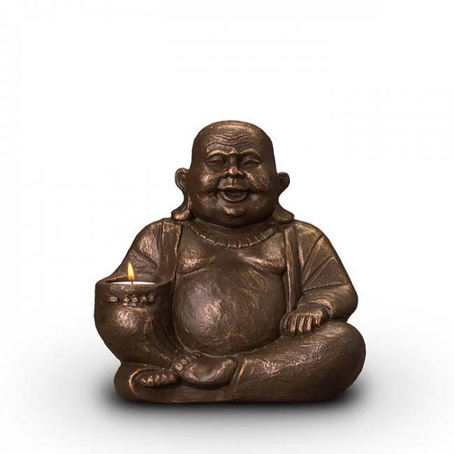 beleuchtete buddha art urne