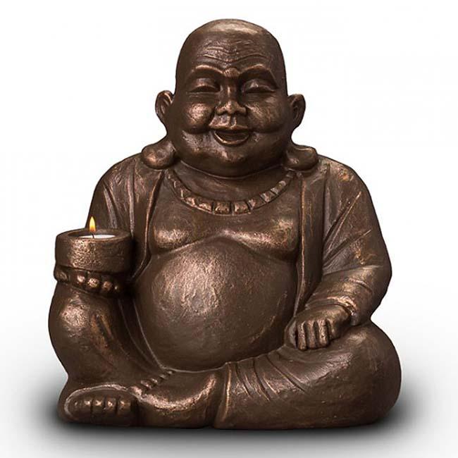 beleuchtete buddha duo art urne