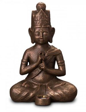 beleuchtete dai nichi buddha art urne