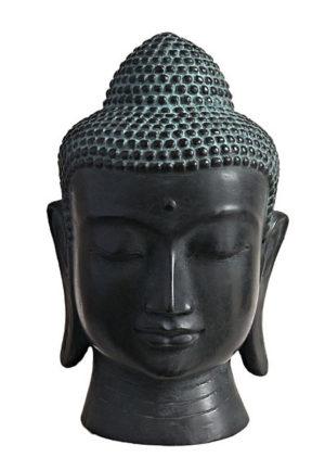 bronze buddha kopf urne liter ug