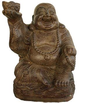 bronze lachlende buddha urne liter ug