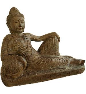 bronze liegende buddha urne liter ug