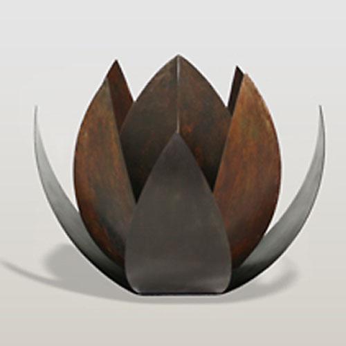 bronze lotus urne