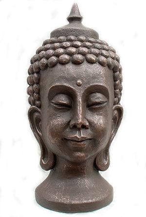 buddha kopf art urne