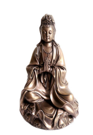 chinesische weibliche buddha urne kwan yin