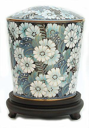 cloisonne auf kopfer urne liter cu