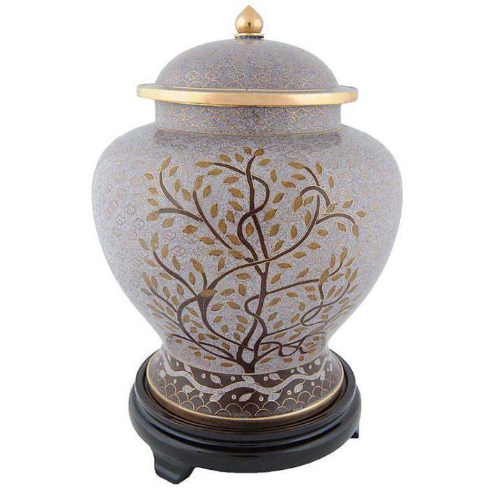 cloisonne auf kopfer urne tree of life