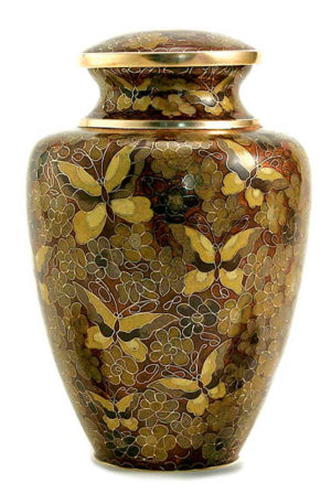 cloisonne urne goldene schmetterlinge liter tb c