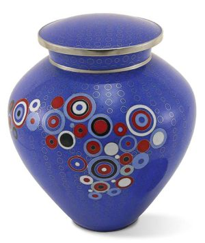 cloisonne urne opulenz blau