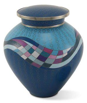 cloisonne urne opulenz blaugrun