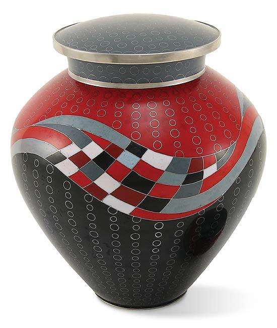 cloisonne urne opulenz rot
