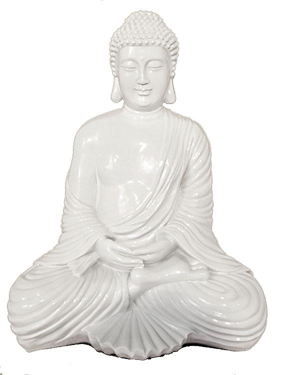grosse weisse amithaba meditation buddha urne