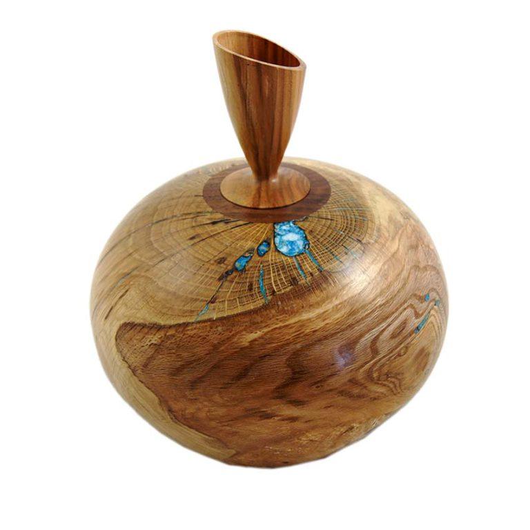holz urne aus eiche