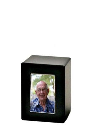 holzerne fotobox urne