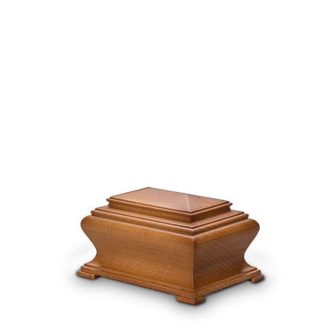 holzerne mini brust urne