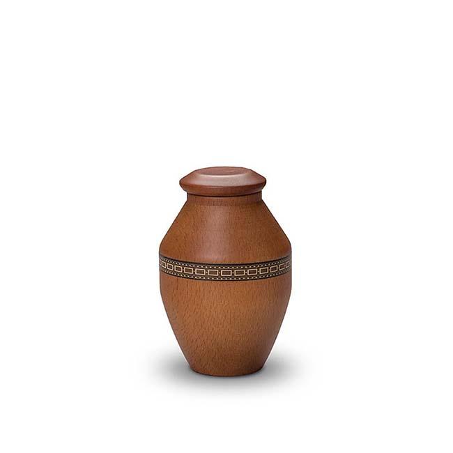 holzerne mini vase urne