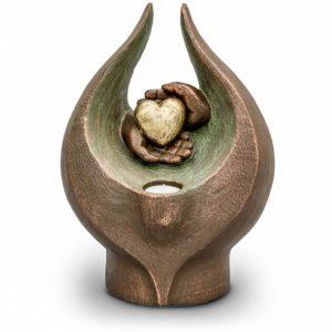 keramik art urne beleuchtet geguhle