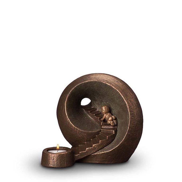 keramik art urne beleuchtet unendliche tunnel liter UGKT