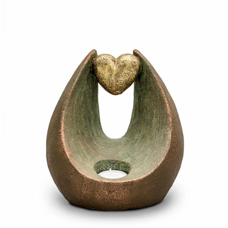 keramik art urne beleuchtetes herz liter UGK