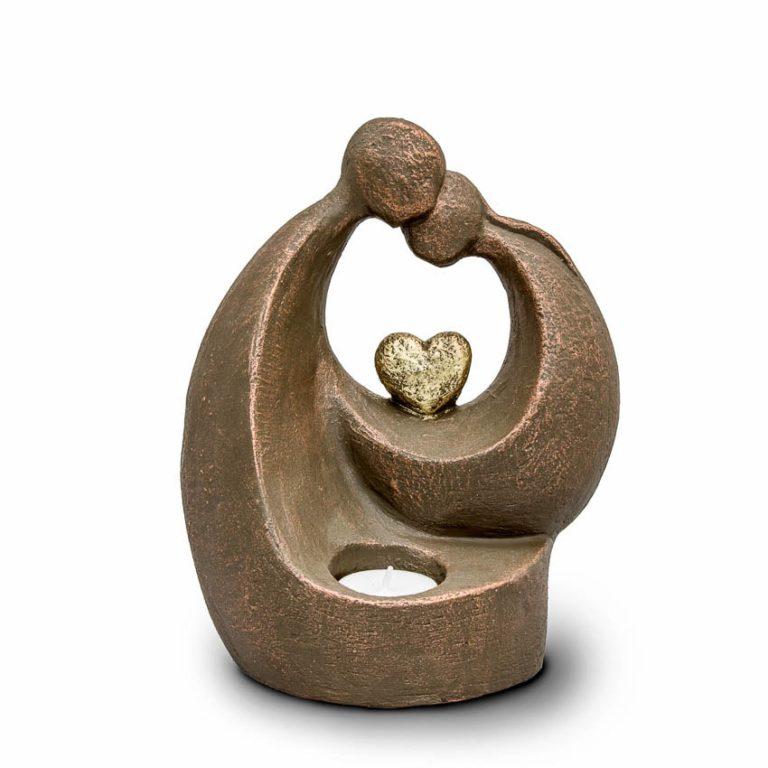 keramik art urne komfort mit herz