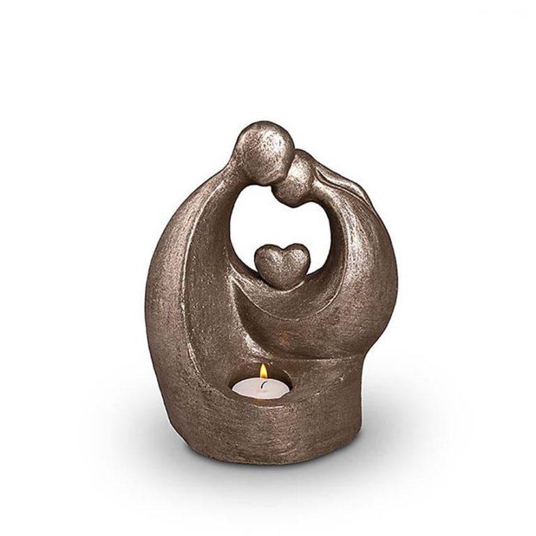 keramik art urne komfort mit herz silber