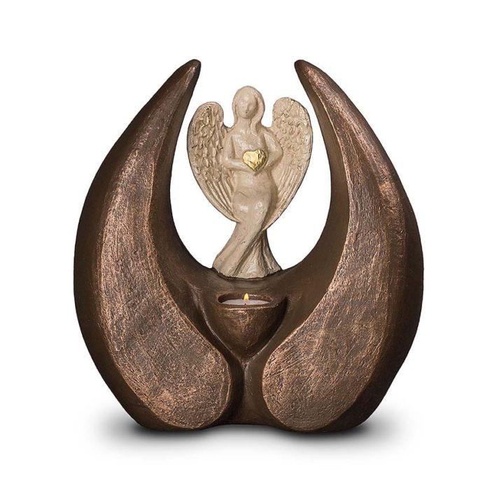 keramik art urne shutzangel