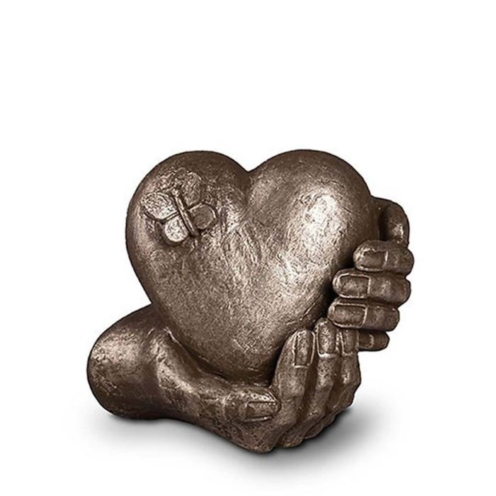 keramik art urne silber liter UGKS