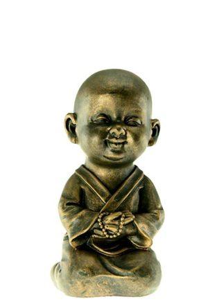 kleine buddha urne shaolin monch namaste mudra