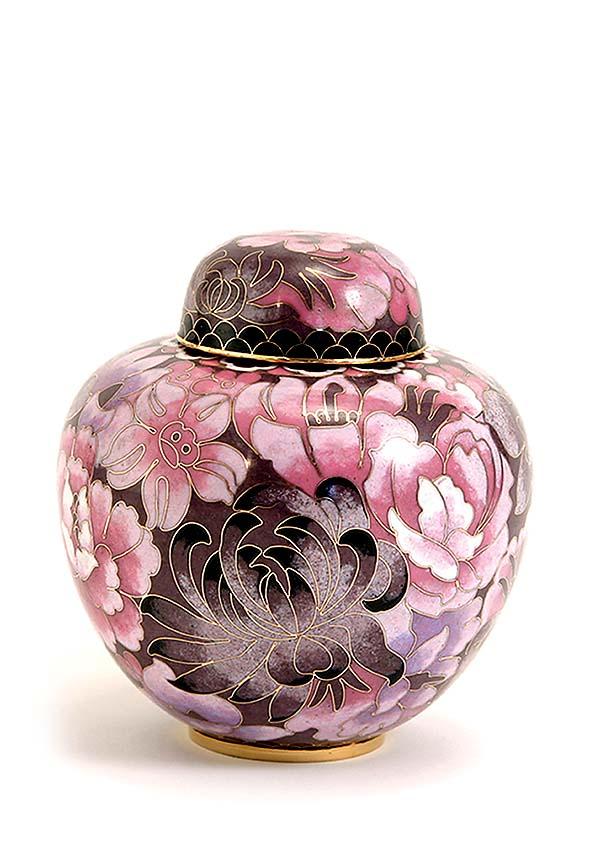 kleine cloisonne urne elite floral blush