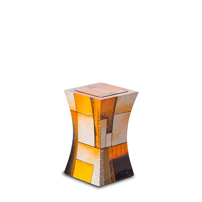 kleine diabolo glasfaser urne