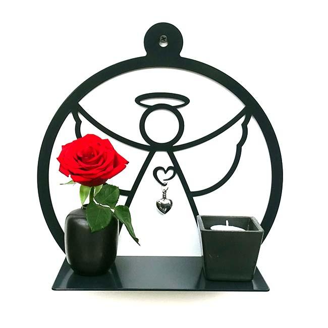 kleine h ngende wand mein engel schwarze oder wei e billige urnen deutschland. Black Bedroom Furniture Sets. Home Design Ideas