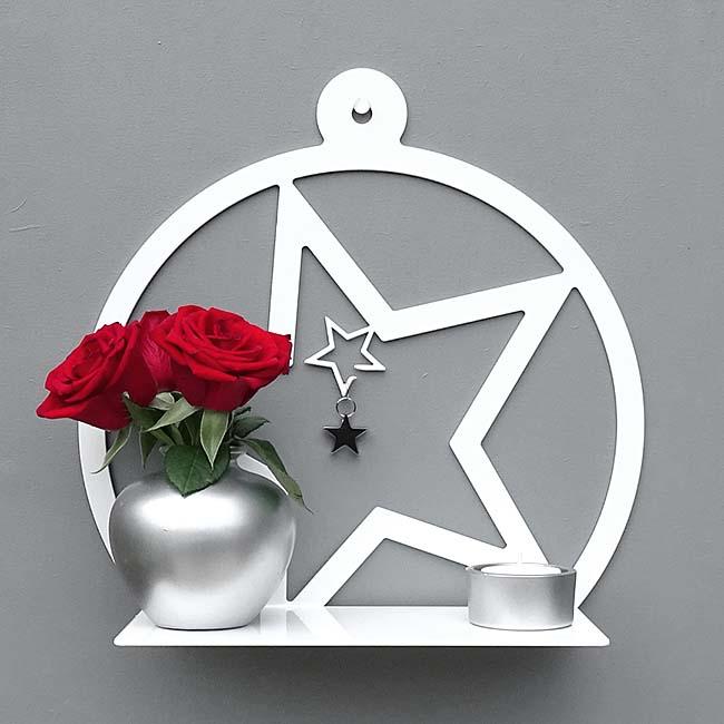 kleine h ngende wand mein stern schwarze oder wei e billige urnen deutschland. Black Bedroom Furniture Sets. Home Design Ideas