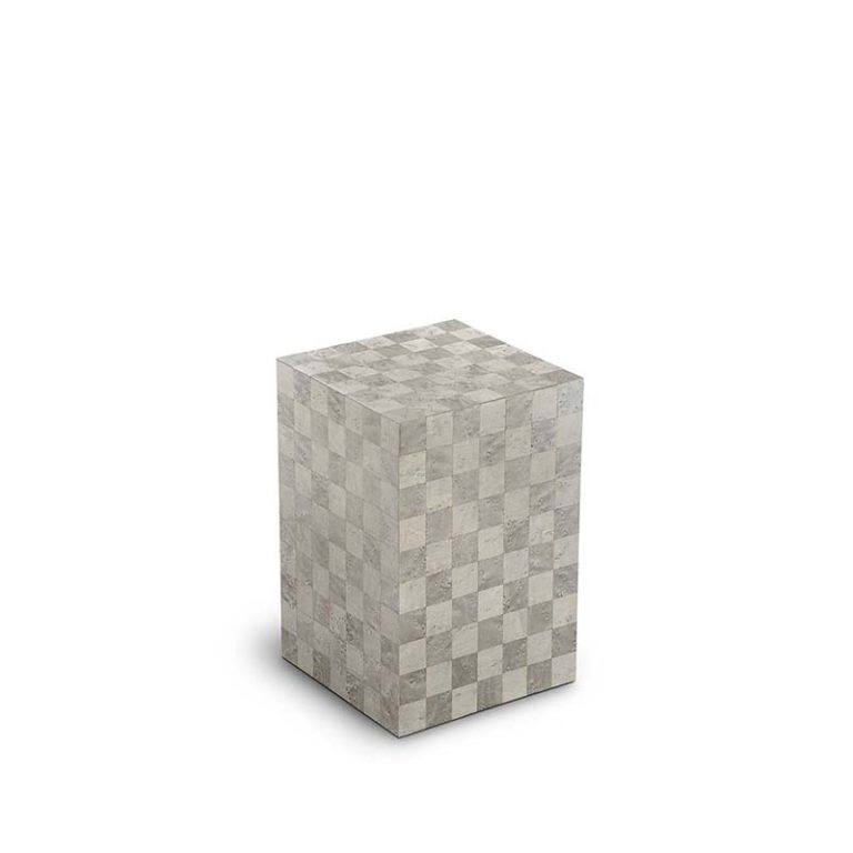 kleine rechteckige urne memoria quarzo