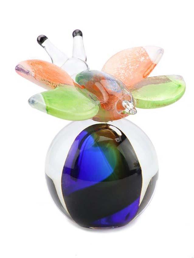 kristallglaser D mini urne schmetterling erubgo