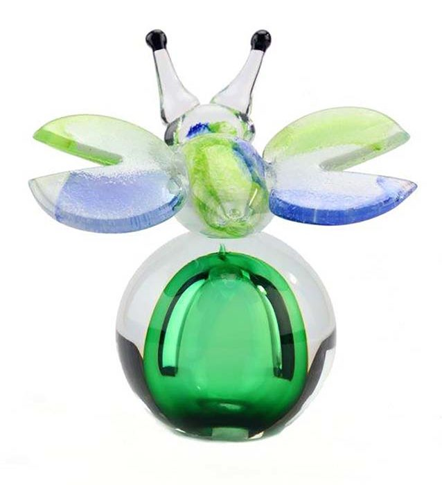kristallglaser D mini urne schmetterling erug