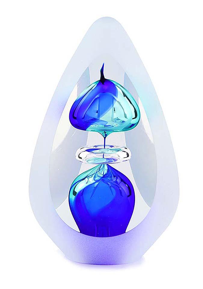 kristallglaser D premium urne orion blue big
