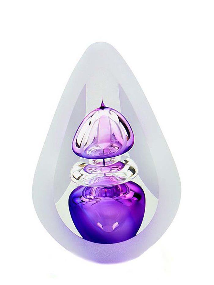 kristallglaser D premium urne orion purple small