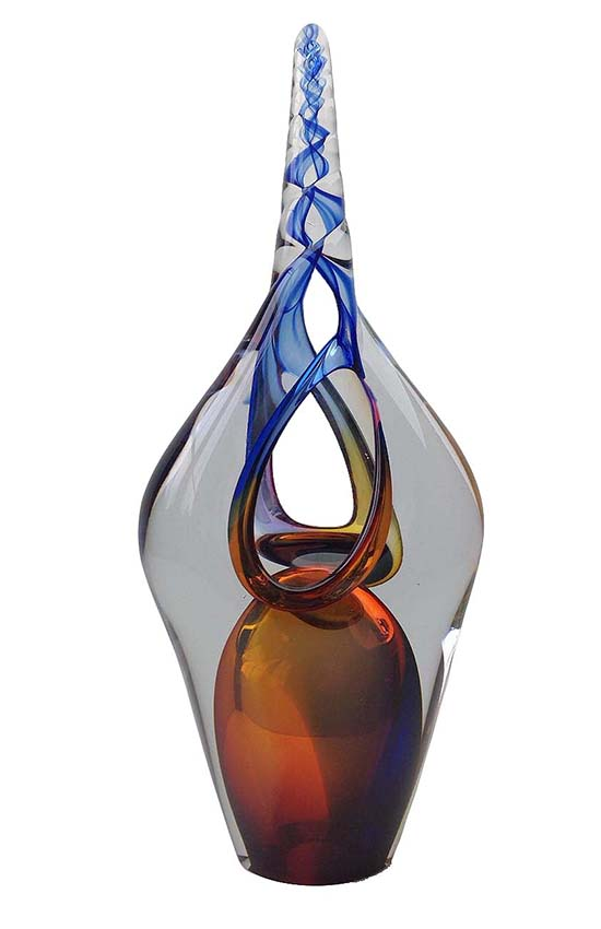 kristallglaser d einhorn blau urne