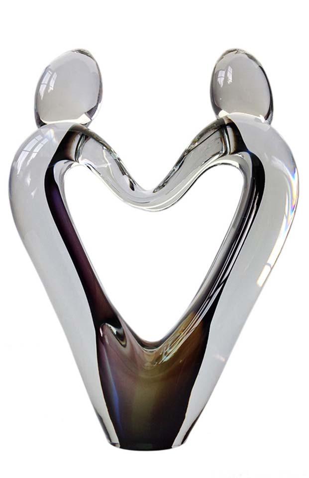 kristallglaser d love heart urne