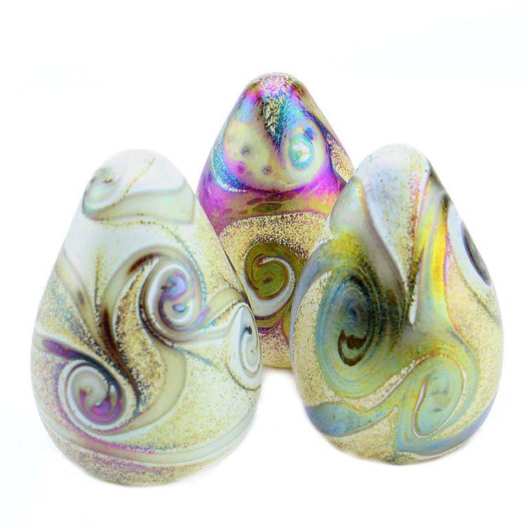 kristallglaser tropfen mini urne elements ivory