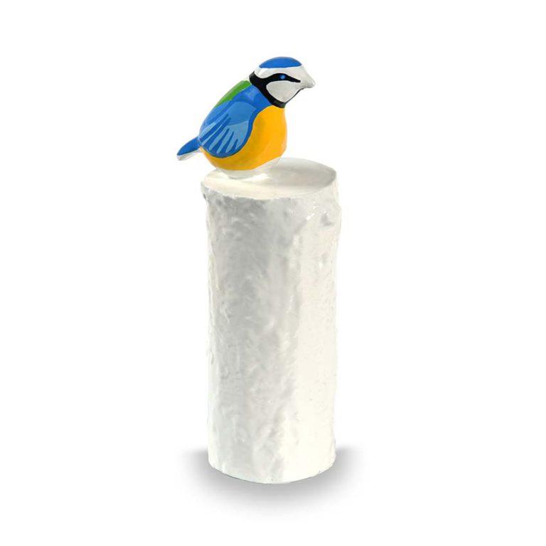 kunstharz mini urne pimpelmees