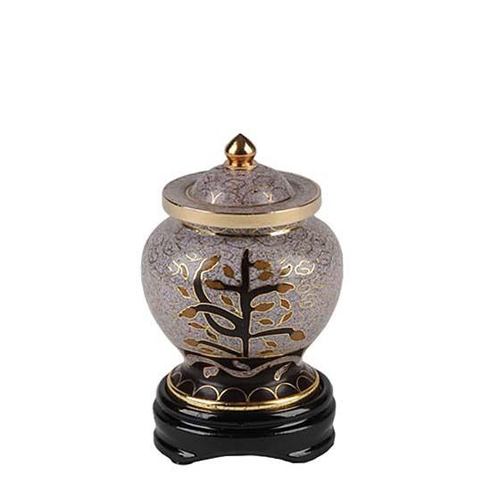 mini urne cloisonne auf kupfer tree of life