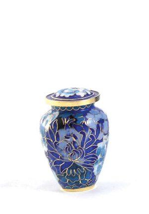 mini urne cloisonne elite floral blau