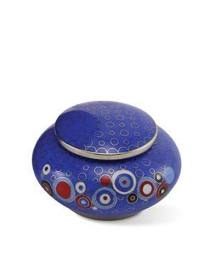 mini urne cloisonne opulenz blau