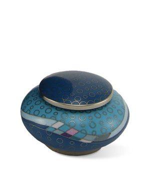mini urne cloisonne opulenz blaugrun