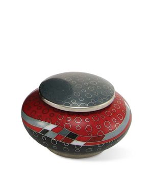 mini urne cloisonne opulenz rot