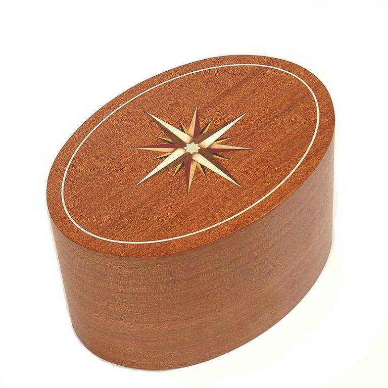 ovale urne roma windrose mahoni liter urrrvl
