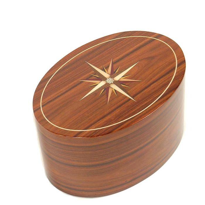 ovale urne roma windrose palisandro liter urrrvl