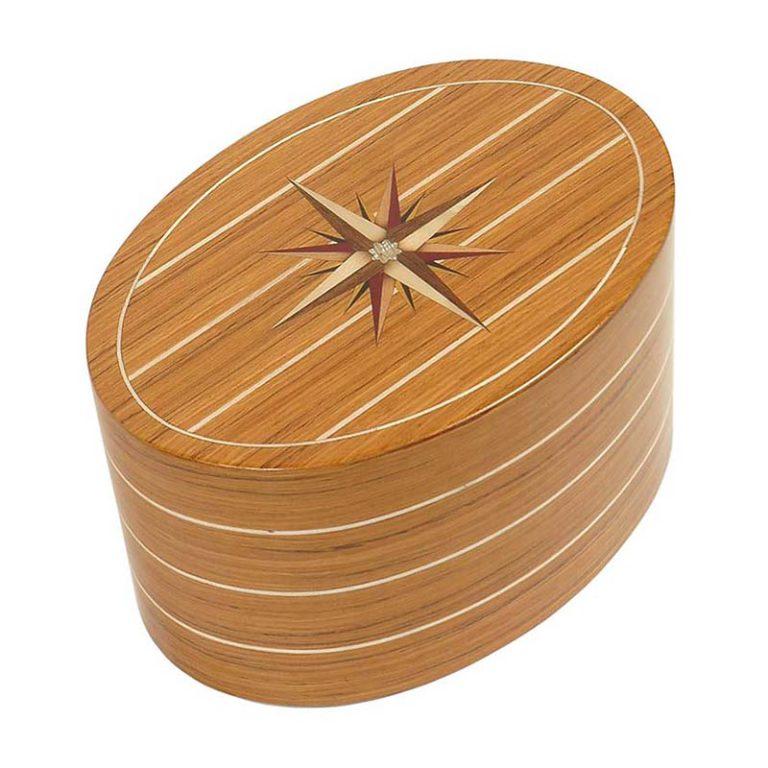 ovale urne roma windrose teak liter urrrvl