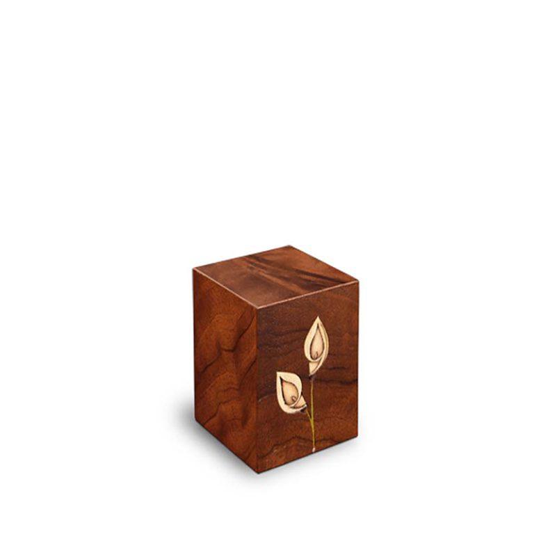 rechteckige mini urne venezia calla bianca